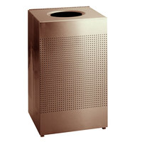 Rubbermaid FGSC22ERBDP Silhouettes Desert Pearl Steel Designer Waste Receptacle - 50 Gallon
