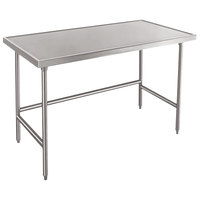 Advance Tabco TVSS-305 30 inch x 60 inch 14 Gauge Open Base Stainless Steel Work Table