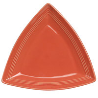 Tuxton Concentrix CNZ-1248 Cinnebar 12 1/2 inch Triangle China Plate 6 / Case