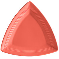 Tuxton CNZ-1248 Concentrix 12 1/2 inch Cinnebar Triangle China Plate - 6/Case