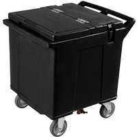 Carlisle IC225003 Black Cateraide 125 lb. Mobile Ice Caddy