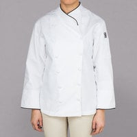 Chef Revival Gold Ladies Chef-Tex Size 20 (2X) Customizable Corporate Jacket with Black Piping