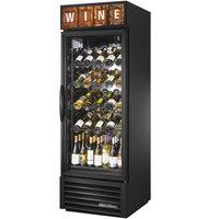 True GDM-23W-HC~TSL01 Black One Glass Door Refrigerated Wine Merchandiser