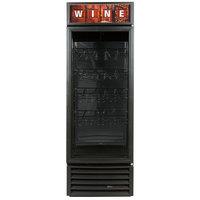 True GDM-23W-HC-LD Black One Glass Door Refrigerated Wine Merchandiser - 23 Cu. Ft.