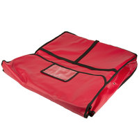 American Metalcraft PB2400 24 inch x 24 inch x 4 inch Standard Insulated Red Vinyl Pizza Delivery Bag