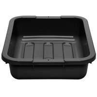 Cambro 1520CBPL110 Poly Cambox 20 inch x 15 inch x 5 inch Black Polyethylene Bus Box with Ribbed Bottom