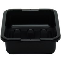 Cambro 1520CBP110 20 inch x 15 inch x 5 inch Black Polyethylene Plastic Bus Box with Ribbed Bottom