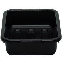 Cambro 1520CBP110 20 inch x 15 inch x 5 inch Black Polyethylene Plastic Bus Box with Ribbed Bottom