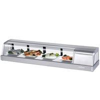 Turbo Air Sakura-60 60 inch Stainless Steel Curved Glass Refrigerated Sushi Case - Right Side Compressor
