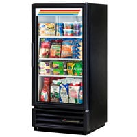 True GDM-10-LD Black Refrigerated Glass Door Merchandiser with LED Lighting - 10 Cu. Ft.