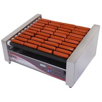 APW Wyott HRSDi-50S X*PERT Digital Hotrod 50 Hot Dog Non-stick Roller Grill 30 1/2 inch Slanted Top - 208/240V