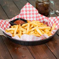 Tablecraft 137510BK 10 1/2 inch Black Plastic Diner Platter / Fast Food Basket - 12/Pack