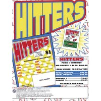 Hitters 1 Window Pull Tab Tickets - 100 Tickets Per Deal - Total Payout: $75