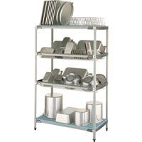 Metro PR48X3 MetroMax i Stationary Drying Rack - 24 inch x 48 inch x 75 1/2 inch