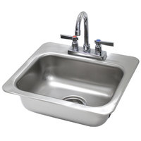Advance Tabco DI-1-35 Drop In Stainless Steel Sink - 14 inch x 10 inch x 5 inch Bowl