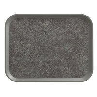 Cambro 1418VC381 18 inch x 14 inch Pearl Gray Customizable Non-Skid Versa Camtray - 12/Case