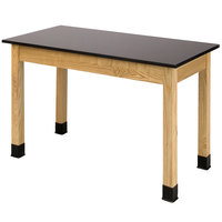 National Public Seating PSLT2460 24 inch x 60 inch Science Lab Table with Phenolic Top - 30 inch Height