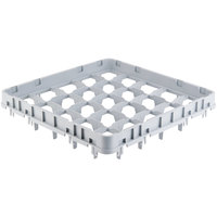 Cambro 25E1151 25 Camrack Compartment Soft Gray Full Drop Full Size Extender - 19 5/8 inch x 19 5/8 inch x 2 inch