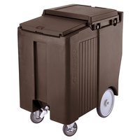 Cambro ICS175TB131 SlidingLid Dark Brown Portable Ice Bin - 175 lb. Capacity Tall Model