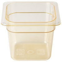 Cambro 66HP150 H-Pan 1/6 Size Amber High Heat Food Pan - 6 inch Deep