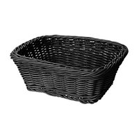 GET WB-1506-BK 9 1/2 inch x 7 3/4 inch x 3 1/2 inch Designer Polyweave Black Rectangular Basket - 12/Case