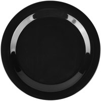 Carlisle 3300203 Sierrus 10 1/2 inch Black Narrow Rim Melamine Plate - 12/Case