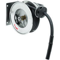 T&S B-7102-01M 12' Open Compact Stainless Steel Hose Reel with B-0107 Spray Valve
