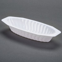 Fineline Flairware White 215-WH 15 oz. Plastic Oval Bowl - 12 / Pack