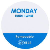 Noble Products Monday 1 inch Removable Day of the Week Label   - 1000/Roll
