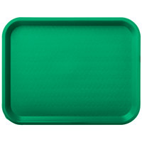 Carlisle CT101409 Customizable Cafe 10 inch x 14 inch Green Standard Plastic Fast Food Tray - 24/Case