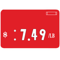 Universal Deli Number Tag - Red