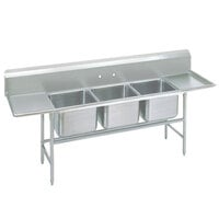 Advance Tabco 94-23-60-24RL Spec Line Three Compartment Pot Sink with Two Drainboards - 115 inch