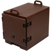 Cambro 300MPC131 Camcarrier Dark Brown Front Loading Insulated Food Pan Carrier with Handles