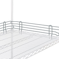 Metro L14N-4-DSH Super Erecta Silver Hammertone Stackable Ledge 14 inch x 4 inch