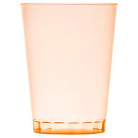 Fineline Savvi Serve 410-ORG 10 oz. Tall Neon Orange Hard Plastic Tumbler - 500/Case