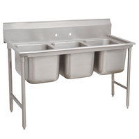 Advance Tabco 9-23-60 Super Saver Three Compartment Pot Sink - 74 inch