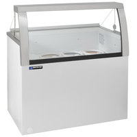 Master-Bilt DD-66LCG 69 inch Low Curved Glass Ice Cream Dipping Cabinet