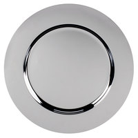Carlisle 608924 12 3/16 inch Round Chrome Charger Plate