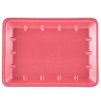 Genpak 1014 Foam Meat Tray Rose 10 inch x 13 7/8 inch x 1 1/4 inch   - 100/Case