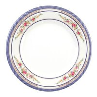 Rose 15 1/2 inch Round Melamine Plate - 12/Pack