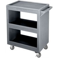 Cambro BC2304S191 Granite Gray Three Shelf Service Cart - 33 1/4 inch x 20 inch x 34 5/8 inch