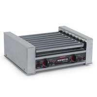 Nemco 8018SX Hot Dog Roller Grill with GripsIt Non-Stick Coating - 18 Hot Dog Capacity (120V)