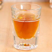 Libbey 5127/S0711 1.5 oz. Fluted Whiskey / Shot Glass with .875 oz. Cap Line - 12/Pack