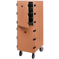 Cambro 1826DBC157 Camcart Coffee Beige Double Compartment Food Storage Box Carrier