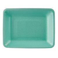 CKF 88208 (#4PR) Green Foam Meat Tray 9 1/4 inch x 7 1/4 inch x 1 1/4 inch - 500/Case