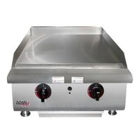APW Wyott HTG-2436 36 inch Heavy Duty Countertop Griddle with Thermostatic Controls - 99,000 BTU