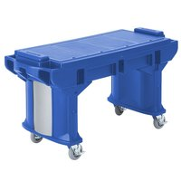 Cambro VBRT6186 Navy Blue 6' Versa Work Table with Standard Casters