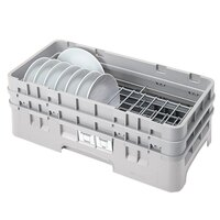 Cambro CRPH1656151 Soft Gray Half Size PlateSafe Camrack 5-6 7/8 inch