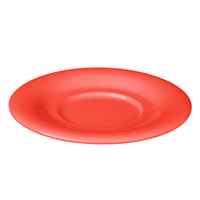 Thunder Group CR9108RD 5 1/2 inch Orange Melamine Saucer for 8 oz. Bouillon Cup and 4 oz. Salad Bowl - 12/Pack