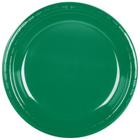 Creative Converting 28112031 10 inch Emerald Green Plastic Banquet Plate - 240 / Case